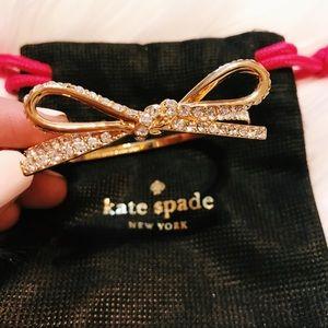 Kate Spade Pave Bow Bracelet / Bangle (Gold)